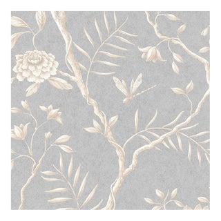 Lewis & Wood Jasper Peony Smoke Botanic Style Wallpaper Sample For Sale