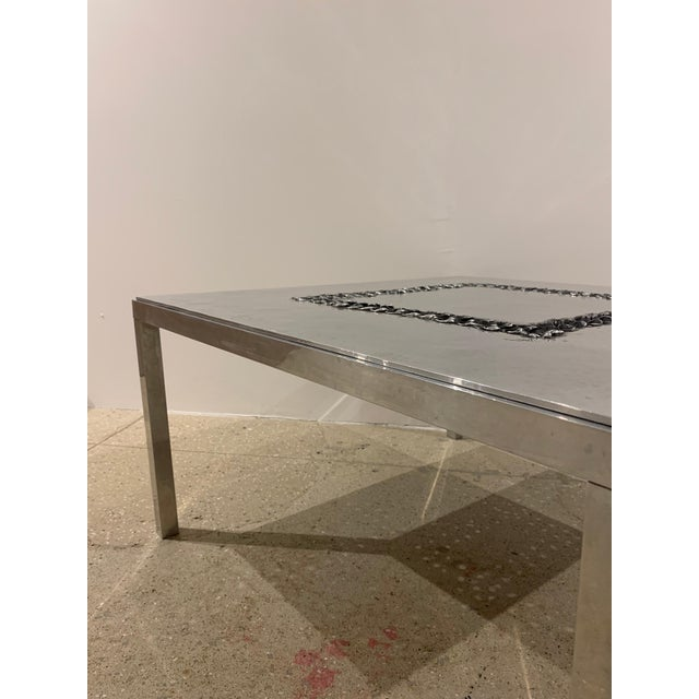 Off-white 1970s Willy Luckyx Aluclair Belgian Table For Sale - Image 8 of 13