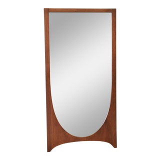 Broyhill Brasilia Mid-Century Modern Walnut Framed Mirror For Sale