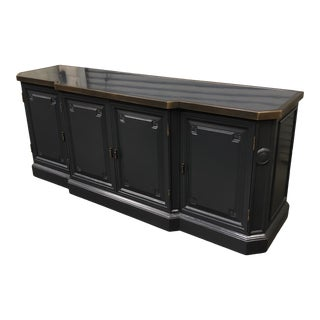 D&j Benchworks Custom Lacquered & Brass Credenza For Sale
