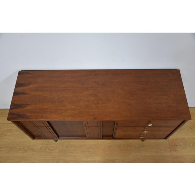 Stanley Furniture Mid-Century Walnut Dresser - Image 5 of 10