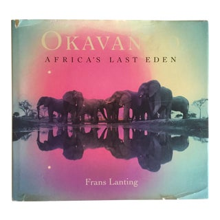 """ Okavango Africa's Last Eden "" 1st Edtn Vintage 1993 Hardcover Wildlife Photography For Sale"