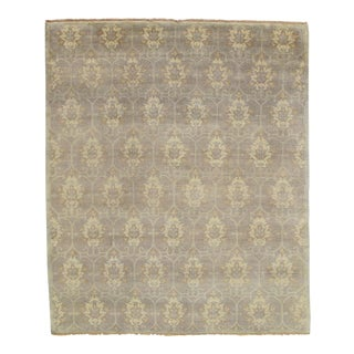 Contemporary Oushak Design Hand-Knotted Rug - 8′2″ × 9′8″