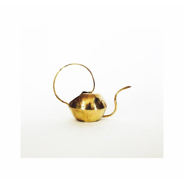 Vintage Brass Cactus Watering Can - Image 2 of 5