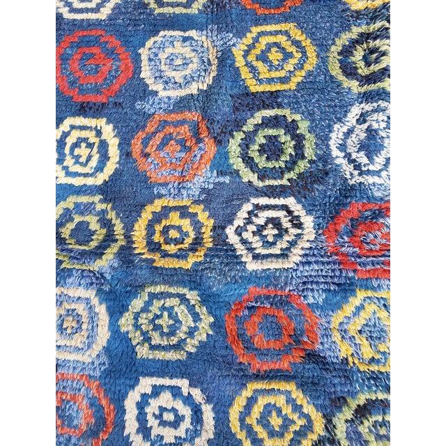 Handmade Swedish Rya Rug - Image 5 of 8