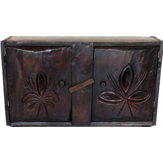 Antique Guatemalan Primitive Cabinet For Sale - Image 4 of 5