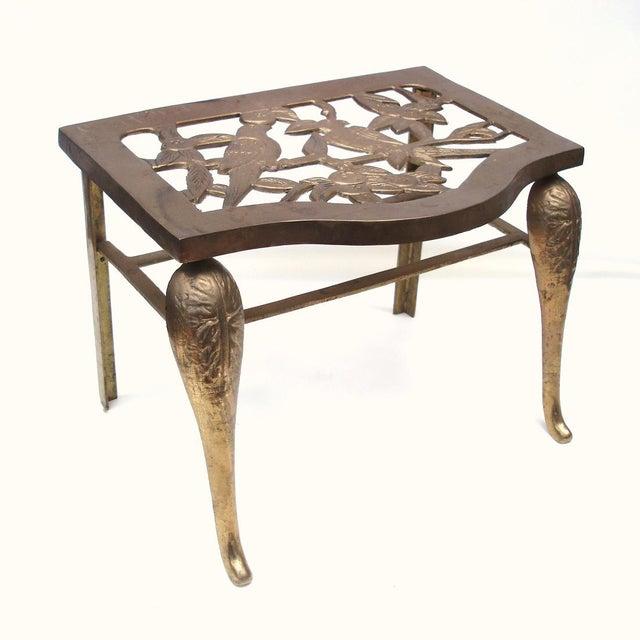Fireplace Stool Hearth Trivet Brass Footman - Image 6 of 8