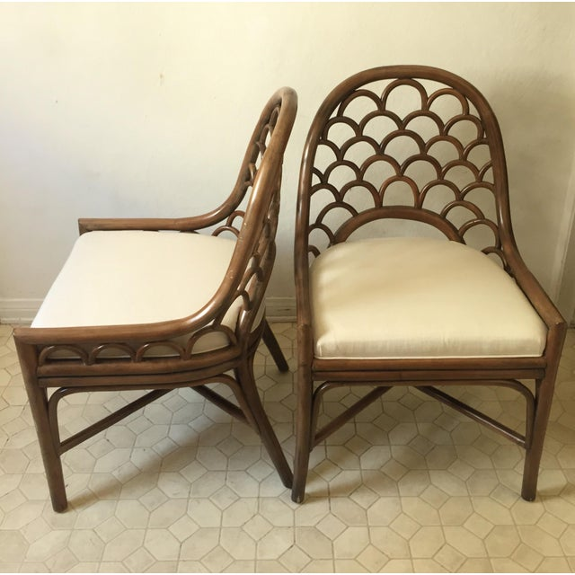 David Francis Brown Koi Side Chairs - A Pair - Image 5 of 10