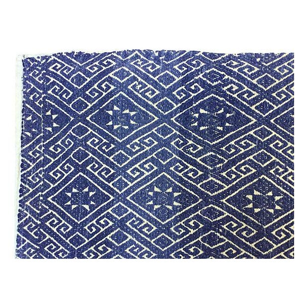 Hill Tribe Blue & White Dowry Wedding Quilt - Image 3 of 5