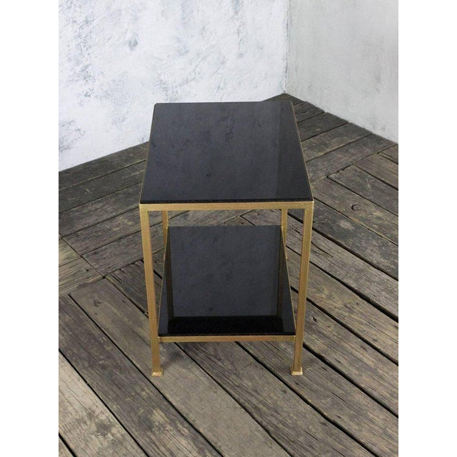 Marcelo Iron End Table With Polished Granite Surface For Sale - Image 5 of 11