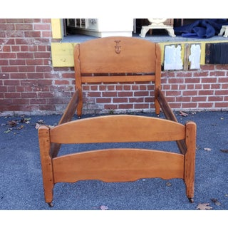Vintage 1930s Solid Vermont Rock Maple Twin Single Size Bed Preview