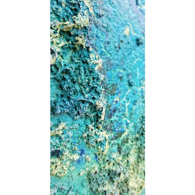Large Art Impasto Texture by Listed Artist Koheem For Sale In Miami - Image 6 of 13