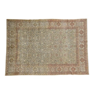 1920s Vintage Persian Tabriz Hand-Knotted Wool Full Pile Rug - 8′6″ × 12′1″ For Sale