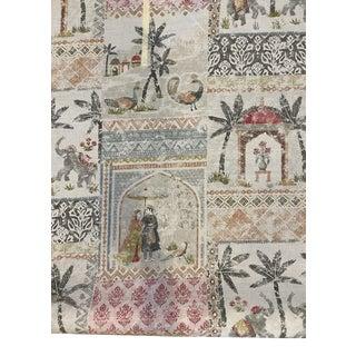 Jane Churchill Kashmir Garden Linen Blend Fabric 11 1/2 Yards For Sale