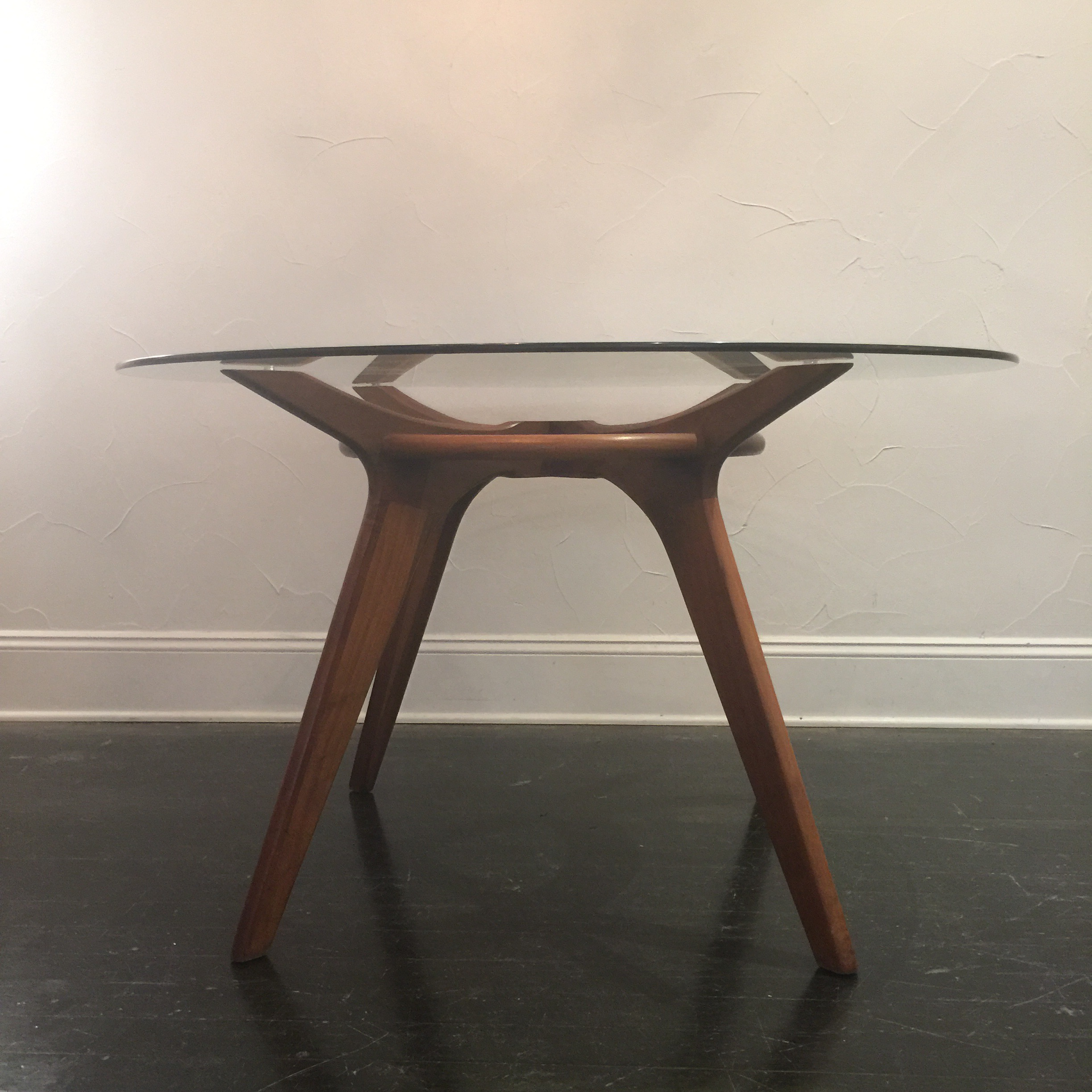 Bon Adrian Pearsall Adrian Pearsall Walnut And Glass Dining Table For Sale    Image 4 Of 7