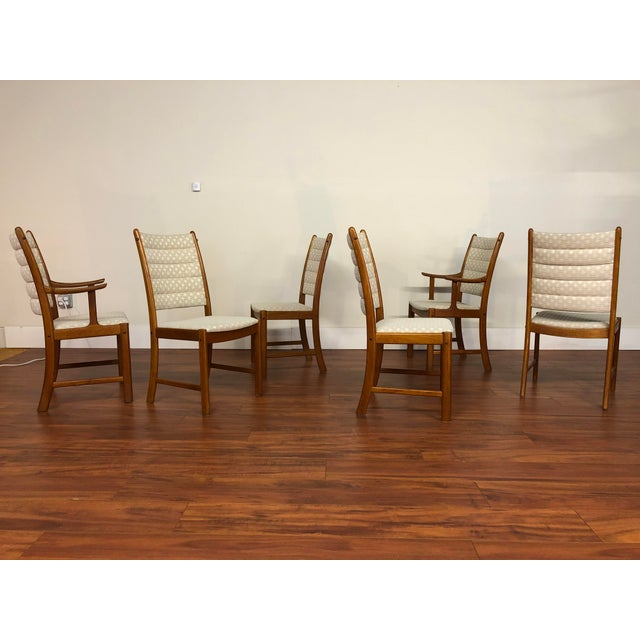 Johannes Andersen for Uldum Vintage Teak Dining Chairs - Set of 6 For Sale In Seattle - Image 6 of 12