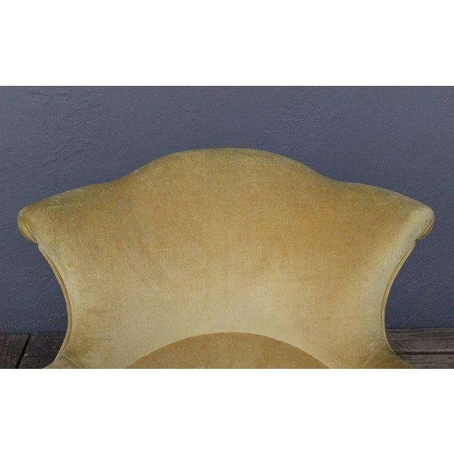 Pair of French, 19th Century Armchairs in Faded Gold Velvet - Image 5 of 10