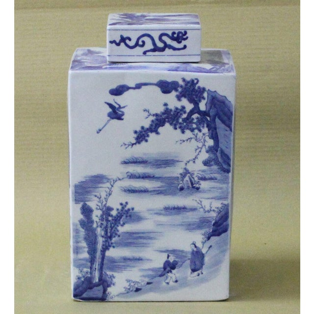 Estimated Retail Price: $180. This Chinoiserie features classic blue and white designs. Made of porcelain.