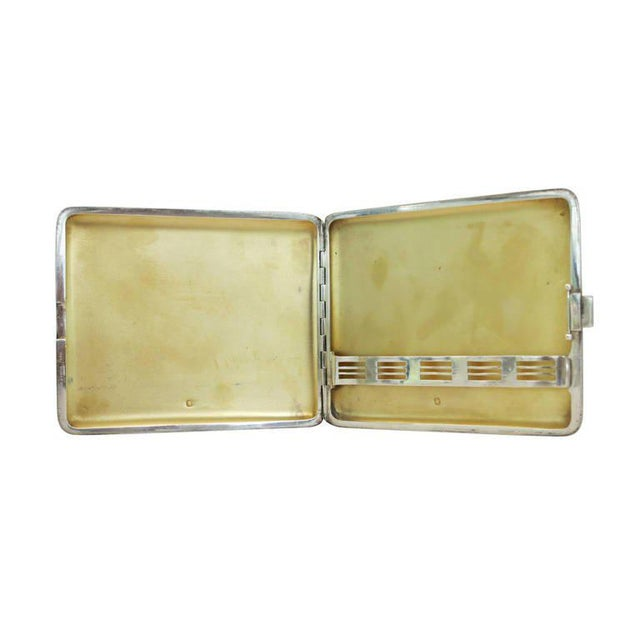 Alfred Dunhill Sterling Silver Cigarette Case, Circa 1930 For Sale In Los Angeles - Image 6 of 7