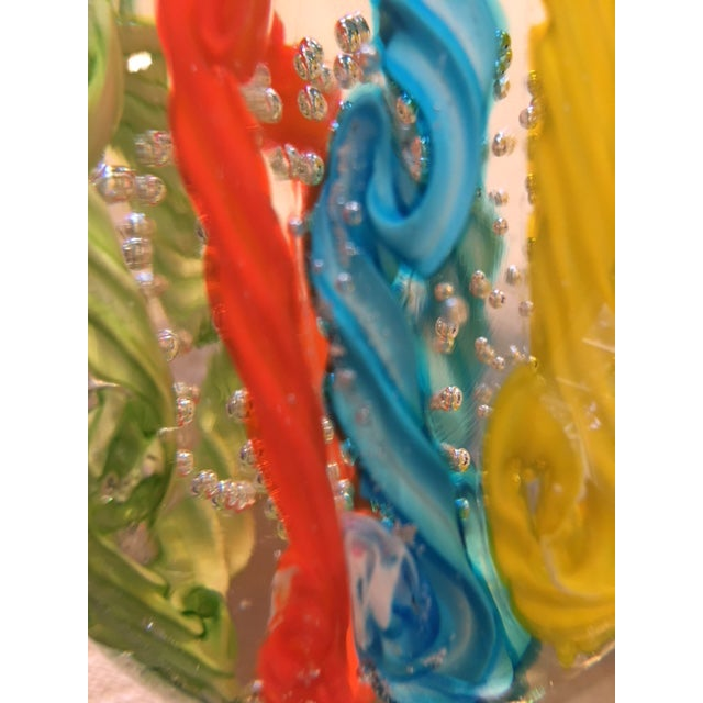 Contemporary Brilliantly Colored Italian Art Glass Paperweight From 1970s For Sale - Image 3 of 7