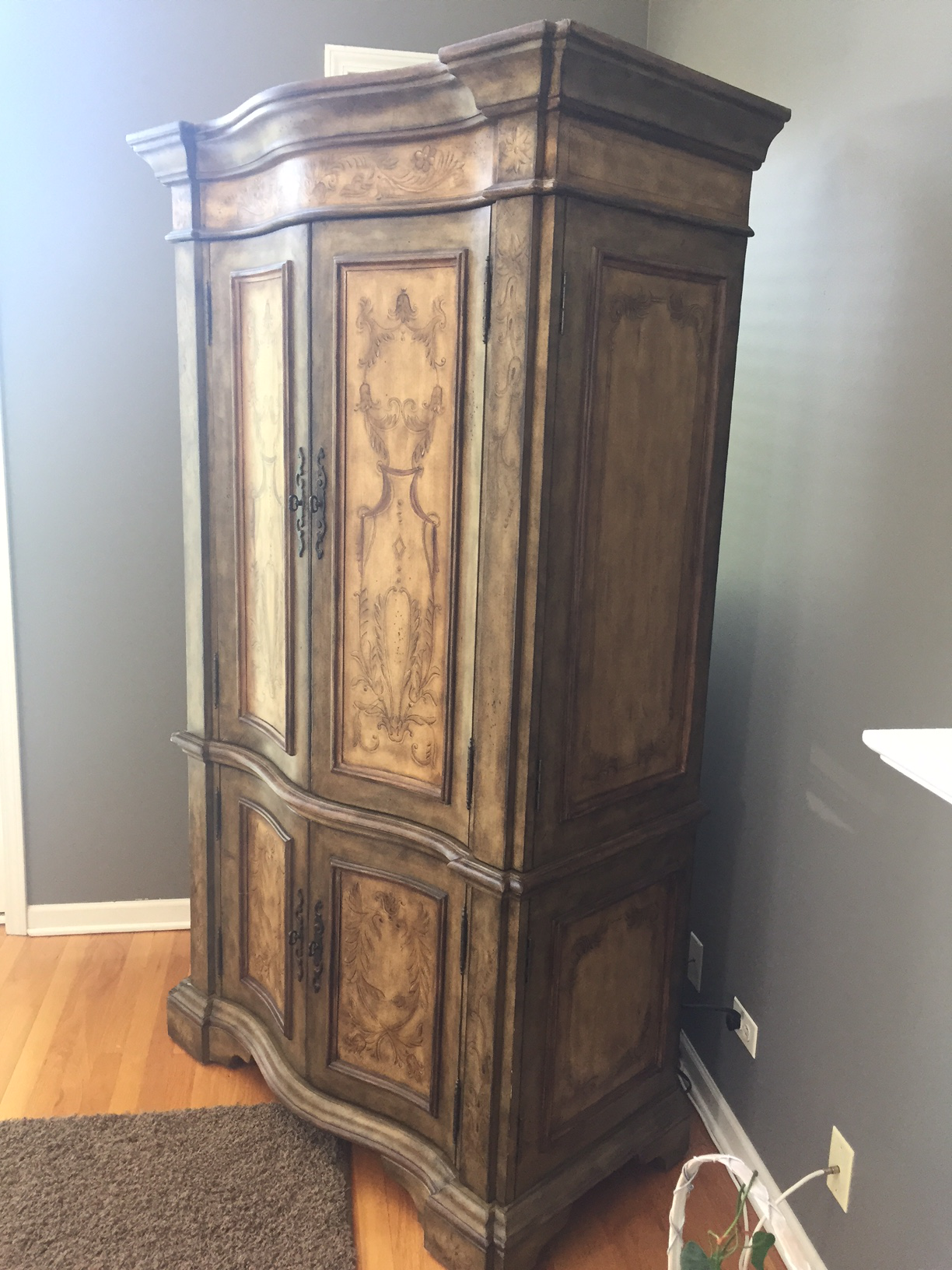 Hooker Furniture Hand Painted Armoire   Image 5 Of 8