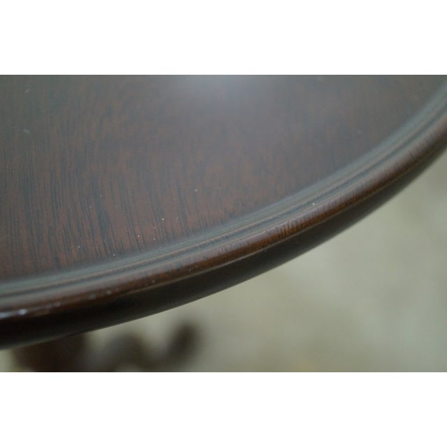 Stickley Queen Anne Solid Mahogany Pedestal Stand - Image 5 of 10