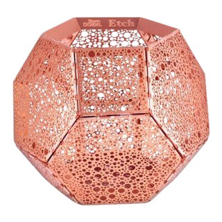 Tom Dixon Etch Tea Light Holder Dot Copper For Sale