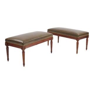 Pair of French Mahogany Benches
