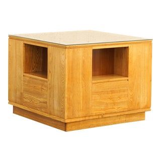 Paul Frankl Modernist Cube Table, 1940s Original Custom, Rare For Sale