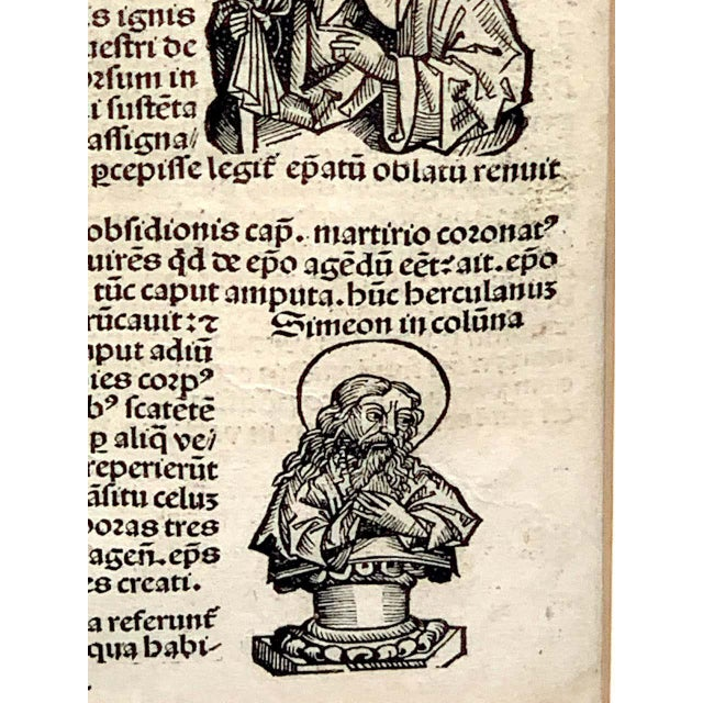 Black 'World Chronicle', 1st Edition, by Schedel & Wolgemut, Nurnberg, 1493 For Sale - Image 8 of 13