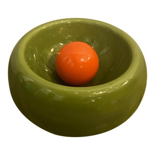 Mid-Century Green Decorative Bowl For Sale