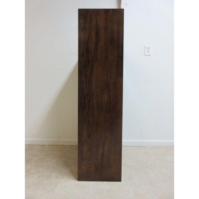 Henredon Henredon Oak Campaign Scene One Book Case Dresser For Sale - Image 4 of 8