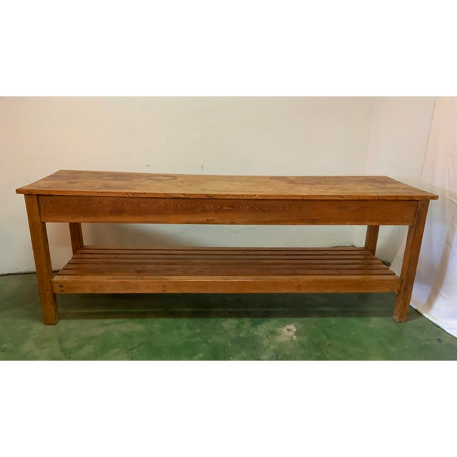 19th Century Rustic Pine Table / Sideboard For Sale In Los Angeles - Image 6 of 13