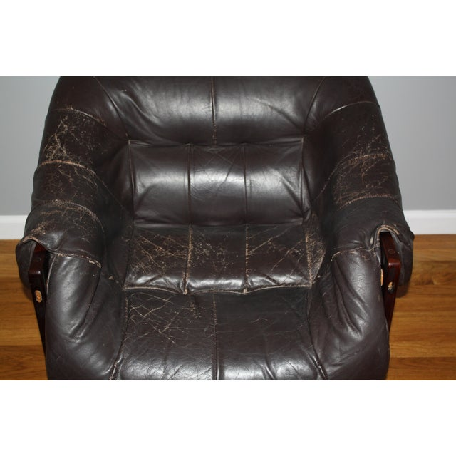 Animal Skin Percival Lafer Lounge Chair For Sale - Image 7 of 8