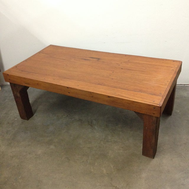 Antique Arts & Crafts Tree Branch Coffee Table For Sale - Image 10 of 10