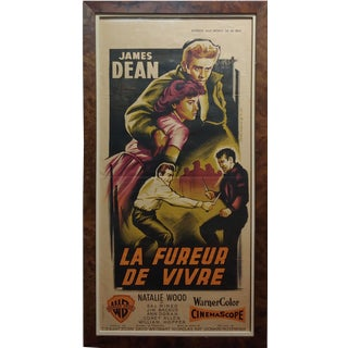 "James Dean ""Rebel Without a Cause"" Original French Poster C.1955 For Sale"