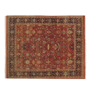 "Vintage Indian Mahal Design Carpet - 7'11"" X 9'9"" For Sale"