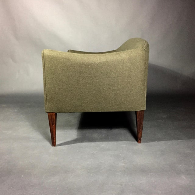 Mid-Century Modern Illum Wikkelsø 2-Seat Wool Sofa, Denmark 1960s For Sale - Image 3 of 12