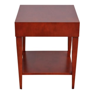 Mid-Century Modern Barbara Barry for Hbf Catalina Square Maple Side Table For Sale