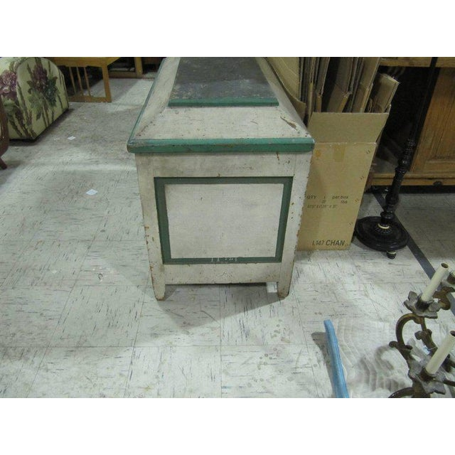 Handsome American Primative Blanket Chest With Wonderful Worn Painted Finish For Sale - Image 4 of 6