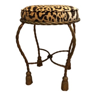 Early 20th Century Brass Stool For Sale