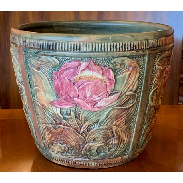 Aesthetic Movement Weller Flemish Ceramic Cachepot For Sale - Image 3 of 9