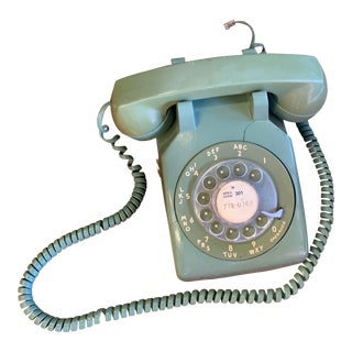 Vintage Green Rotary Phone For Sale