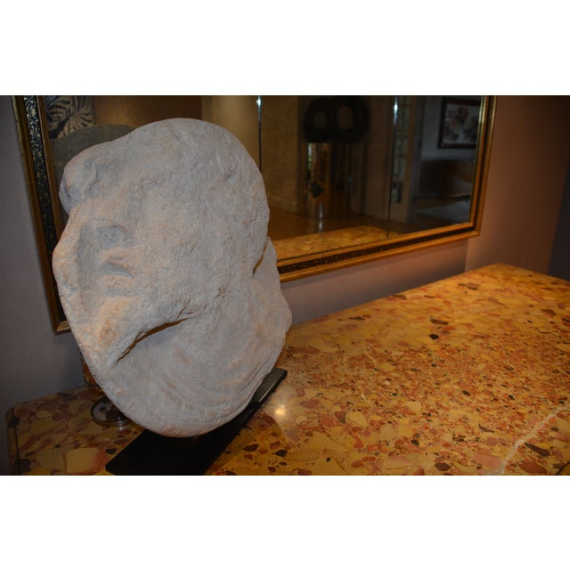 1990s Michael Taylor Designs Stone Sculpture with Stand For Sale - Image 5 of 7
