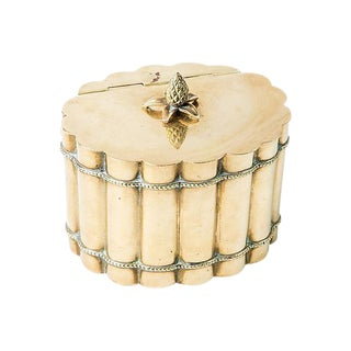 Fluted Brass Canister For Sale