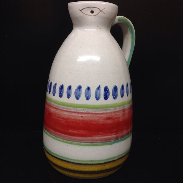 Desimone Hand-Decorated Italian Pitcher - Image 2 of 4
