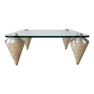 Postmodern Tessellated Stone Coffee Table Attributed to Maitland Smith . For Sale