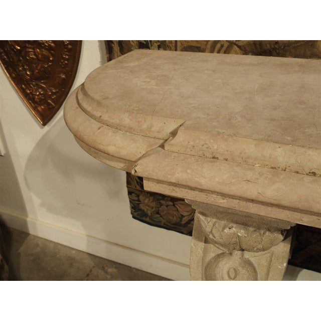 Antique Marble Top Console Table from South-East France For Sale - Image 9 of 10
