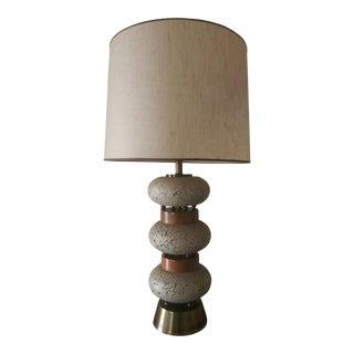 Mid Century Cork Lamp For Sale