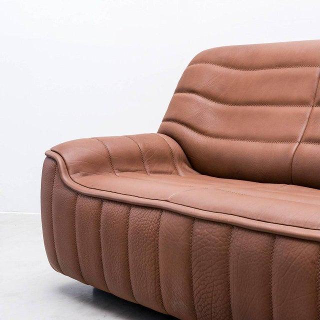 Pristine Original De Sede Model Ds84 Sofa in Cognac Buffalo Leather, 1970s - Image 5 of 7